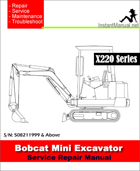 Home Mini Excavator Bobcat 220 X220 Mini Excavator Service Manual ...