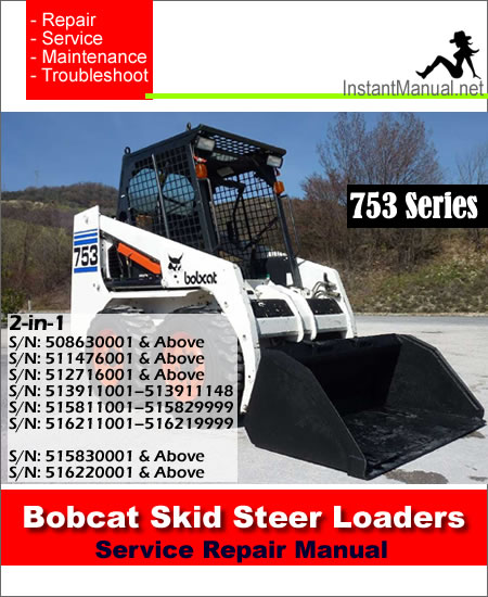 Bobcat 753 Skid Steer Loader Service Repair Manual 2-in-1