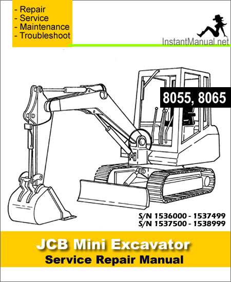 JCB 8055 8065 Mini Excavator Service Repair Manual