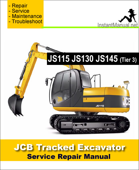 JCB JS115 JS130 JS145 Tier 3 Tracked Excavator Service Repair Manual