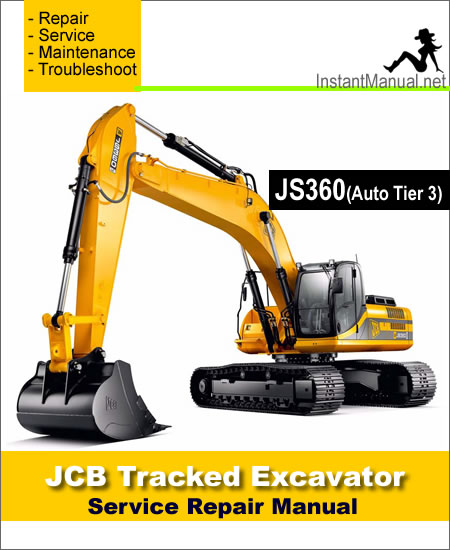 JCB JS360 (Auto Tier 3) Tracked Excavator Service Repair Manual