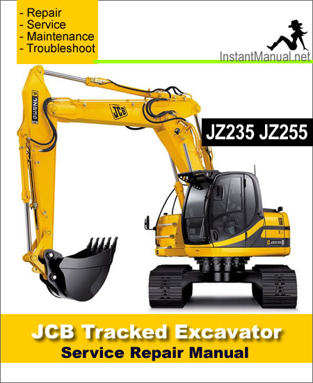 JCB JZ235 JZ255 Tracked Excavator Service Repair Manual