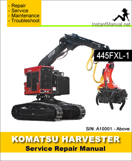 Komatsu 445FXL-1 Crawler Feller Buncher Service Manual SN A10001-Up