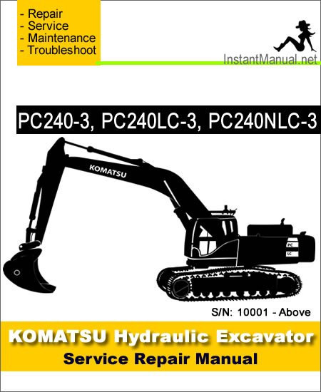 komatsu pc240 3 pc240lc 3 pc240nlc 3 hydraulic excavator. Black Bedroom Furniture Sets. Home Design Ideas
