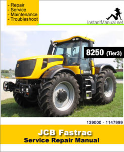 jcb 8250 tier 3 fastrac service repair manual sn 139000. Black Bedroom Furniture Sets. Home Design Ideas