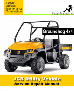 jcb 4x4 groundhog utility vehicle service repair manual. Black Bedroom Furniture Sets. Home Design Ideas