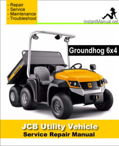 jcb 6x4 groundhog utility vehicle service repair manual. Black Bedroom Furniture Sets. Home Design Ideas