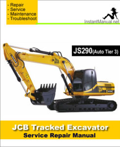jcb js290 auto tier 3 tracked excavator service repair. Black Bedroom Furniture Sets. Home Design Ideas