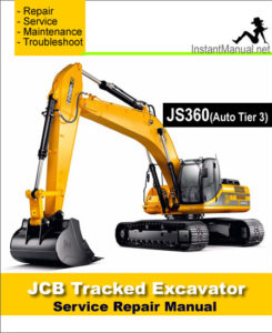 jcb js360 auto tier 3 tracked excavator service repair. Black Bedroom Furniture Sets. Home Design Ideas