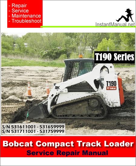 Bobcat t190 service manual
