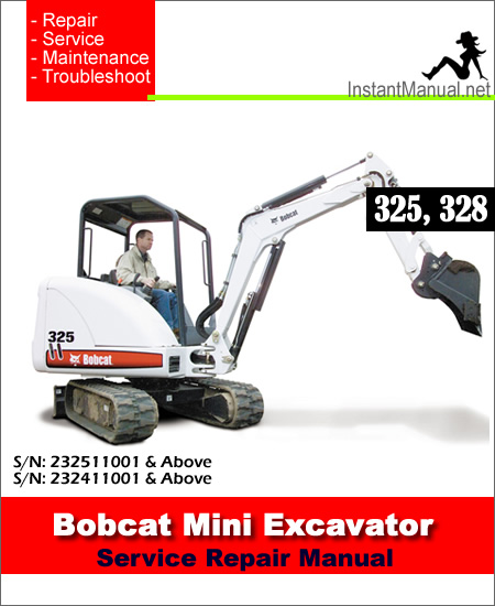Bobcat 328 Mini Excavator manual
