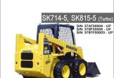 Komatsu SK714-5 SK815-5 Turbo Skid Steer Loader Service Repair Manual SN 37AF00004-37BTF00003