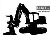 Komatsu XT430L-2 Track Feller Bunchers Service Repair Manual SN A2001-Up