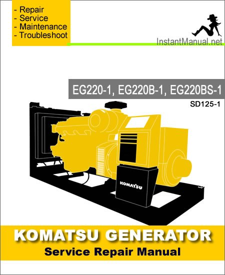 Komatsu Generator EG220-1 EG220B-1 EG220BS-1 Service Repair Manual