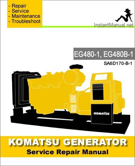 Komatsu Generator EG480-1 EG480B-1 Service Repair Manual