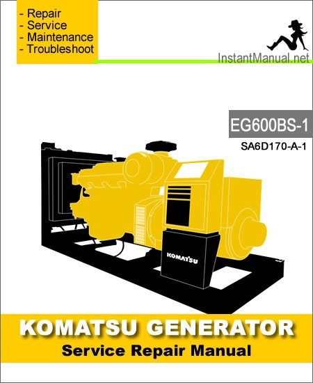 KOMATSUKomatsu Generator EG600BS-1 Service Repair Manual