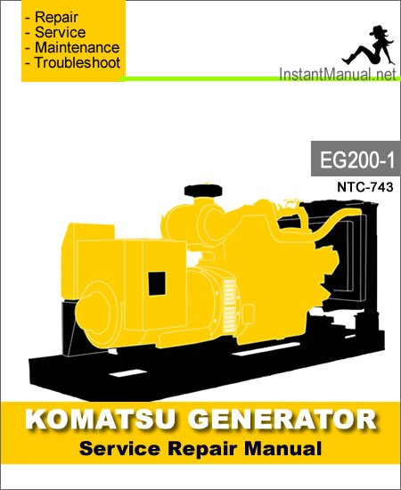 Komatsu Generator EG200-1 Engine NTC-743 Service Repair Manual SN 1001-2000