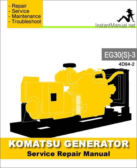 Komatsu Generator EG30S-3 Engine 4D94-2 Service Repair Manual SN 3001-Up