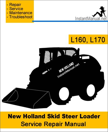 New Holland L160, L170 Skid Steer Loader Service Repair Manual