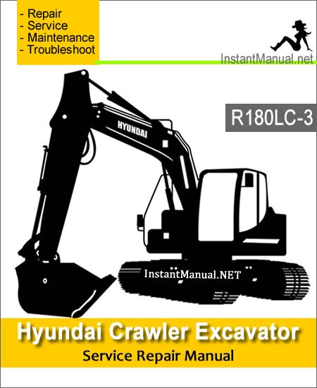 Hyundai Crawler Excavator R180LC-3 Service Repair Manual
