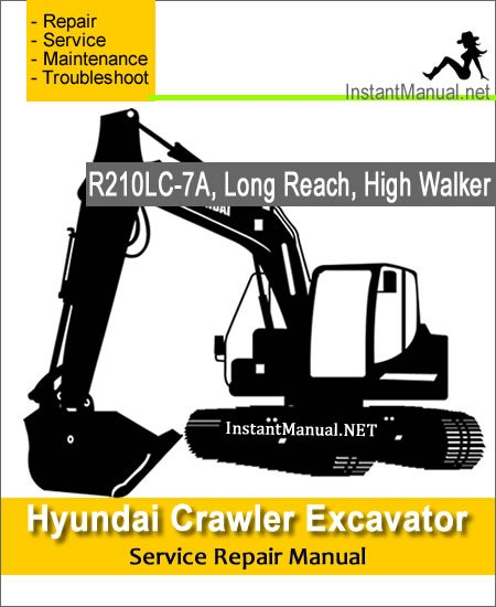 Hyundai Crawler Excavator R210LC-7A Service Repair Manual