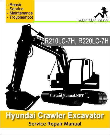 Hyundai Crawler Excavator R210LC-7H R220LC-7H Service Repair Manual