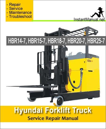 Hyundai Forklift Truck HBR14-7 HBR15-7 HBR18-7 HBR20-7 HBR25-7 Service Repair Manual