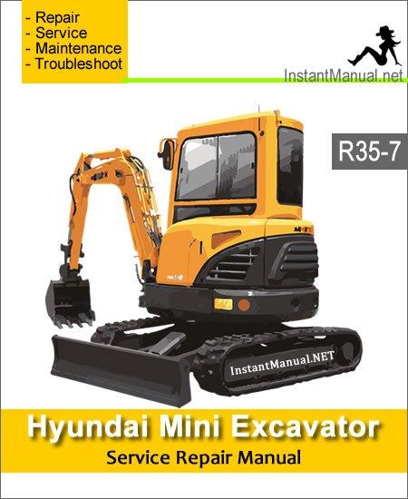 Hyundai Mini Excavator R35-7 Service Repair Manual