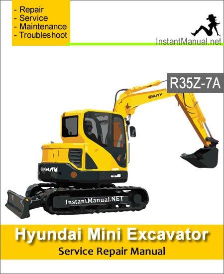 Hyundai Mini Excavator R35Z-7A Service Repair Manual