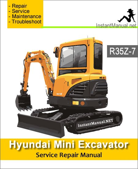 Hyundai Mini Excavator R35Z-7 Service Repair Manual