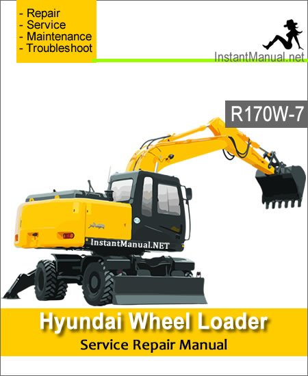 Hyundai Wheel Excavator R170W-7 Service Repair Manual
