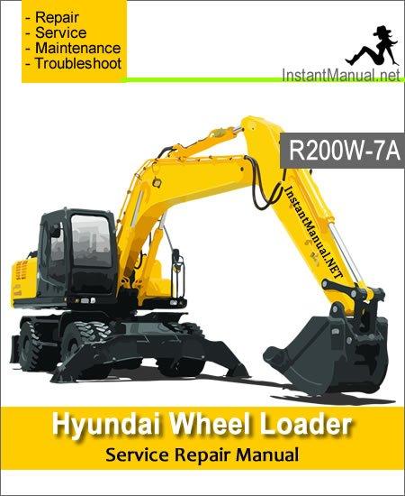 Hyundai Wheel Excavator R200W-7A Service Repair Manual