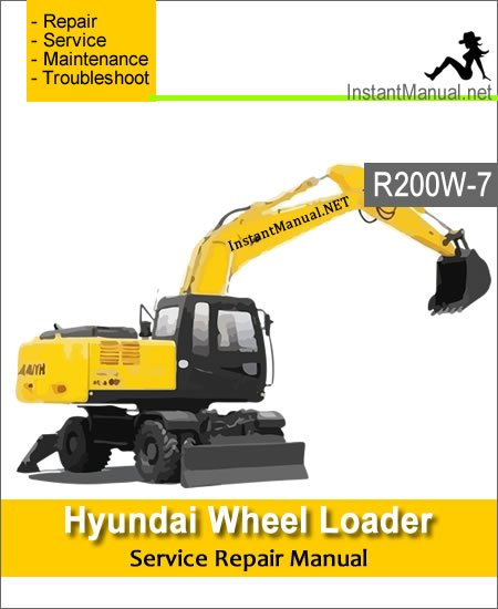 Hyundai Wheel Excavator R200W-7 Service Repair Manual