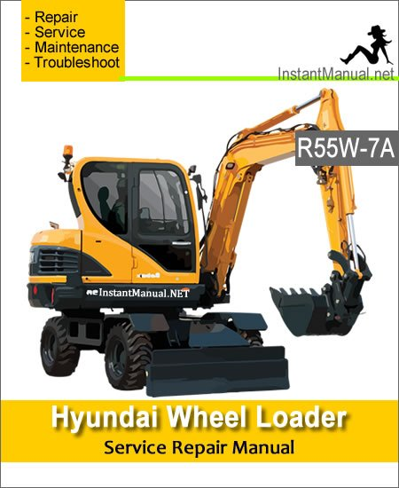 Hyundai Wheel Excavator R55W-7A Service Repair Manual