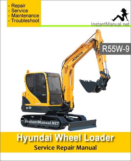 Hyundai Wheel Excavator R55W-9 Service Repair Manual