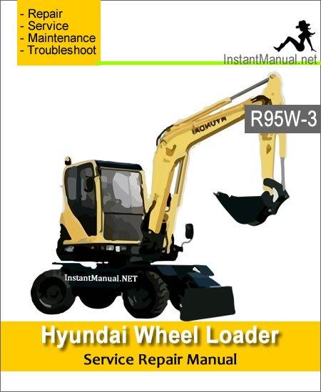 Hyundai Wheel Excavator R95W-3 Service Repair Manual
