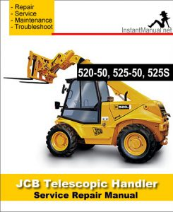 jcb 520 50 525 50 525s telescopic handler service repair. Black Bedroom Furniture Sets. Home Design Ideas