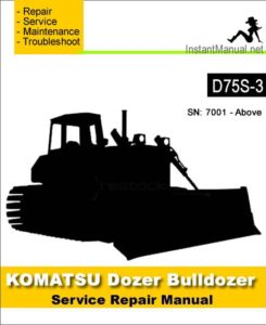 Komatsu D75s 3 Bulldozer Service Repair Manual Sn 7001 Up